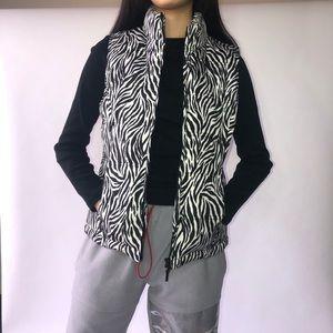 Zebra Print Puffy Vest